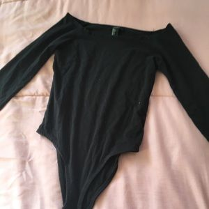 All Black Forever 21 Body Suit